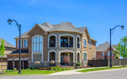 Luxury houses in North America. Custom built luxury house in the suburbs of Toronto, Canada royalty free stock images