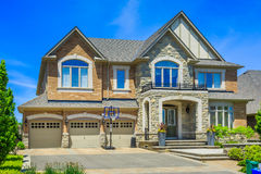 Luxury houses in North America. Custom built luxury house in the suburbs of Toronto, Canada royalty free stock image