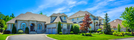 Luxury houses in North America Royalty Free Stock Image