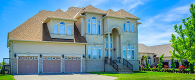 Luxury houses in North America. Custom built luxury house in the suburbs of Toronto, Canada stock photo