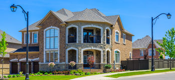 Luxury houses in North America Royalty Free Stock Photos