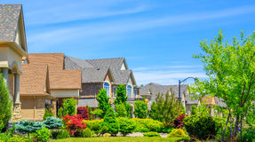 Luxury houses in North America Stock Image