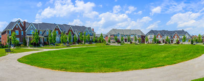 Luxury houses in North America. Custom built luxury houses in the suburbs of Toronto, Canada stock photos