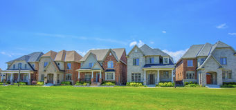 Luxury houses in North America. Custom built luxury houses in the suburbs of Toronto, Canada royalty free stock images