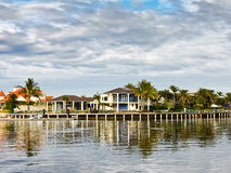 Luxury housing Canal Development Royalty Free Stock Photos