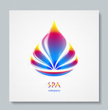 Luxury image logo Rainbow Flower. Business design for spa, yoga class, hotel and resort. Vector illusration Royalty Free Stock Image