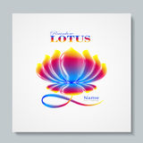 Luxury image logo Rainbow Lotus. Business design for spa, yoga class, hotel and resort. Vector illusration Stock Photo