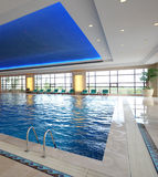 Luxury indoor pool Royalty Free Stock Photography