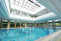 Luxury indoor pool Stock Images