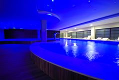 Luxury indoor pool Stock Photo