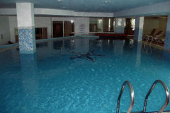 Luxury indoor swimming pool Stock Image