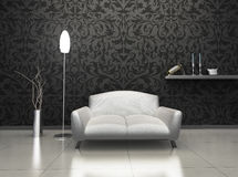 Luxury Interior. Interior of luxury living room with expensive decor and furniture stock illustration