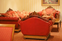 Luxury interior. Luxury residential interior with expansive furniture in classic style Royalty Free Stock Photography