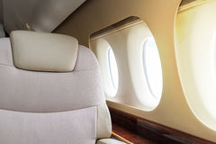 Luxury interior aircraft business aviation Royalty Free Stock Photos
