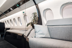 Luxury interior aircraft business aviation Stock Photography