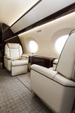 Luxury interior aircraft business aviation Royalty Free Stock Photography