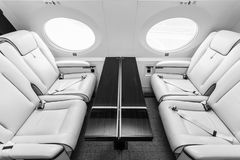Luxury interior aircraft business aviation Royalty Free Stock Image