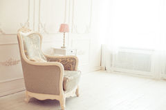 Luxury interior. Luxury clean bright white interior Royalty Free Stock Photo