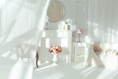 Luxury interior. Luxury clean bright white interior Royalty Free Stock Photography
