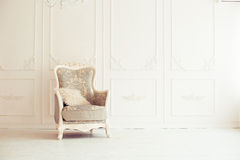 Luxury interior. Luxury clean bright white interior Royalty Free Stock Photos