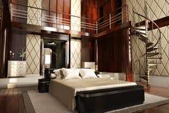 Luxury interior of an elegant bedroom Stock Photos