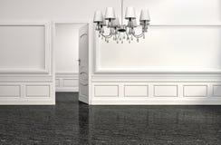 Luxury interior with floor lamp. 3d illustration Stock Photo