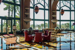 The luxury interior hotel lobby. Stock Photo