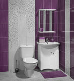 A luxury interior of modern bathroom with toilet Stock Image