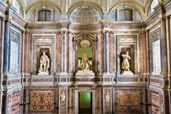 Luxury interior of Reggia di Caserta, 18th century Royal Palace Royalty Free Stock Photo
