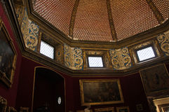 Luxury interior of Uffizi Gallery in Florence, Italy royalty free stock photos