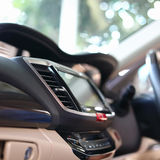Luxury interior vehicle in modern car. Luxury interior vehicle inside modern car, selective focus on air condition cooling fresh royalty free stock image