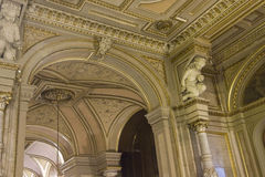 Luxury interiors detail of Viennese Opera House Royalty Free Stock Images