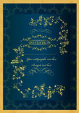 Luxury invitation blank for design Royalty Free Stock Photo