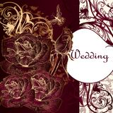 Luxury invitation card with roses for design Stock Images