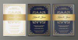 Luxury Invitation card vector design vintage style