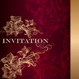 Luxury invitation card in vintage style Royalty Free Stock Photo