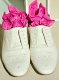 Luxury Italian fashion shoes stock image