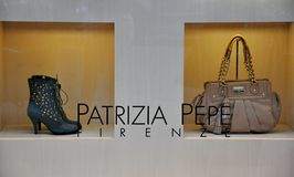 Luxury Italian fashion shop  Stock Images
