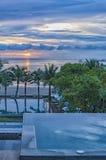Luxury Jacuzzi Sunrise Paradise Stock Images