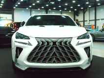 Luxury Japanese crossover at the Royal Auto Show. Luxury Japanese crossover at the Royal motor show. June 10, 2018. St. Petersburg, Russia Royalty Free Stock Photos