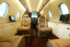 Luxury jet - central galley Stock Photos