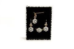 Luxury jewelery set Stock Photos