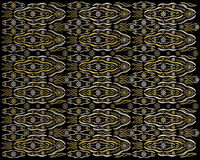 Luxury jewelry background pattern design. Made from silver and gold seed beads on black background. Artistic jewelry decoration royalty free stock photos
