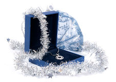 Luxury jewelry in gift box Stock Photography