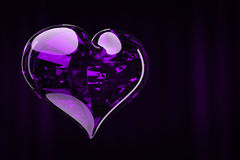 Luxury jewelry heart. Heart in the background luxury curtain 3d rendering Stock Images