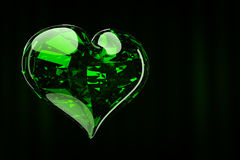 Luxury jewelry heart. Heart in the background luxury curtain 3d rendering Stock Photography
