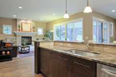 Luxury Kitchen. With granite countertops Royalty Free Stock Photos