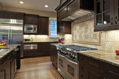 Luxury Kitchen. With granite countertops Royalty Free Stock Photography