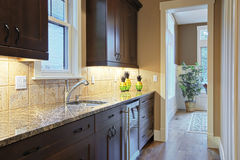 Luxury Kitchen. With granite countertops Royalty Free Stock Image