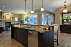 Luxury Kitchen. With granite countertops Royalty Free Stock Images